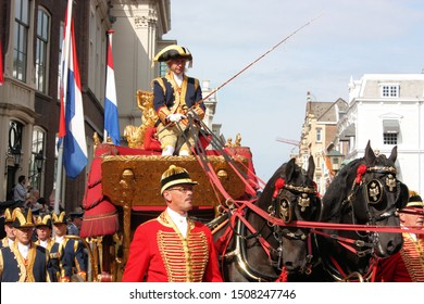 The Hague, South Holland, The Netherlands, September 16, 2008. Driver of the Golden Coach with royal family on Prinsjesdag (opening of the parliamentary year by Queen Beatrix)