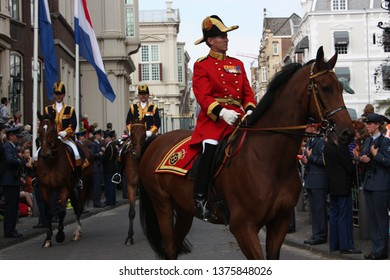 The Hague, Zuid Holland, The Netherlands, September 16, 2008. Queen Beatrix, accompanied by other members of the Royal House, leaves Noordeinde Palace in the Golden Coach for the Binnenhof in Den Haag