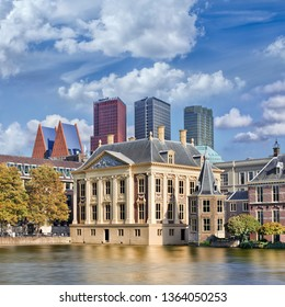 THE HAGUE-AUGUST 23, 2014. The Mauritshuis was originally a city palace, built for Johan Maurits count of Nassau-Siegen, and has been a museum since 1822 with mainly paintings from the Golden Age.
