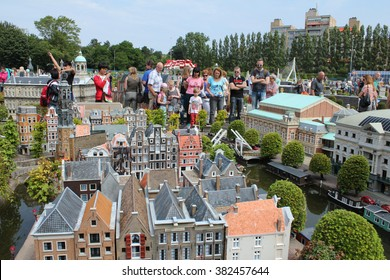 The Hague,Netherlands - July 13th, 2013 : Madurodam,miniature park and tourist attraction in the Scheveningen district of The Hague in the Netherlands