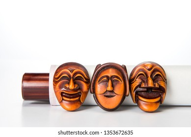 Hahoe is a Korean traditional mask.