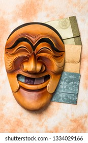 hahoe mask is a Korean traditional mask.
