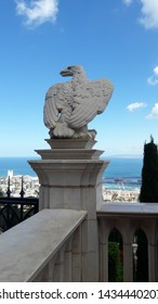 Haifa City View at the top of  Mount Carmel in Israel