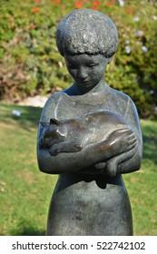 HAIFA, ISRAEL 07 11 2016: Sculpture Garden, also known as Mitzpor HaShalom (Vista of Peace), in Haifa displays the sculptures of Ursula Malbin. The Garden has a stunning view of the Haifa bay,