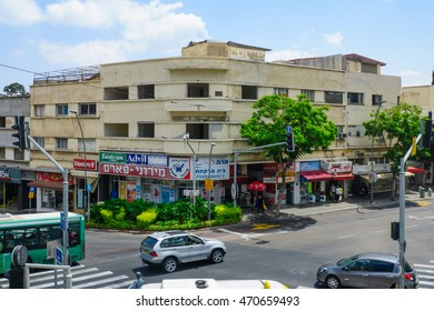 HAIFA, ISRAEL - AUGUST 18, 2016: Scene of Hadar HaCarmel district, with local businesses, locals and visitors, in Haifa, Israel