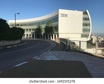 HAIFA, ISRAEL - CIRCA APRIL 2018: View of IBM HQ at morning.