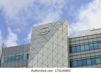 HAIFA, ISRAEL - CIRCA APRIL 2020: View of Intel office building