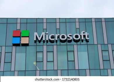 HAIFA, ISRAEL - CIRCA APRIL 2020: View of Microsoft office building