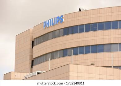 HAIFA, ISRAEL - CIRCA APRIL 2020: View of Phillips office building