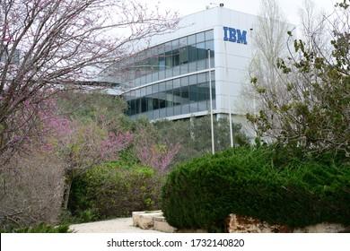 HAIFA, ISRAEL - CIRCA APRIL 2020: View of IBM office building