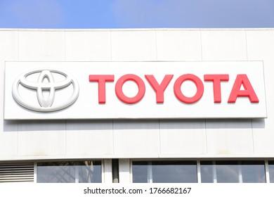 HAIFA, ISRAEL - CIRCA JUNE 2020: View of Toyota service centre