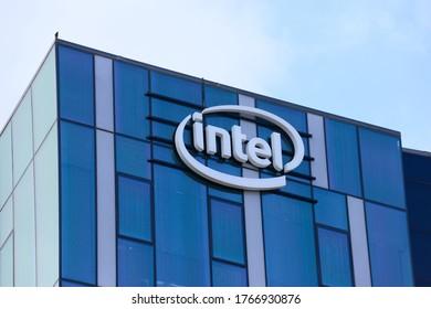 HAIFA, ISRAEL - CIRCA JUNE 2020: View of Intel office building