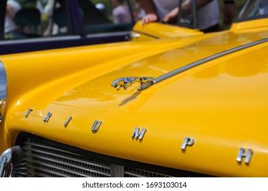 HAIFA, ISRAEL - CIRCA MAY 2015: View of british classic car Triumph
