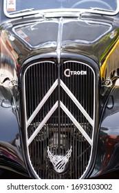 HAIFA, ISRAEL - CIRCA MAY 2018: Symbol of Citroen classic car