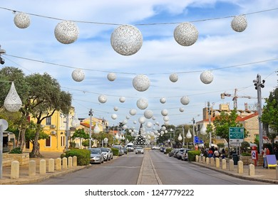 HAIFA, ISRAEL - December 02, 2018: decorated before Christmas - German colony (HaMoshava HaGermanit) in Haifa, Israel. The German Colony was established in Haifa in 1868 by the german templers