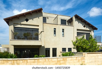 Haifa, Israel - December 30th 2014: Architectural photography, exterior photography of buildings and exterior designs