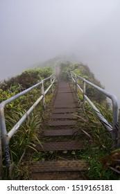 Haiku Stairs also called stairway to heaven in OAhu, Hawaii