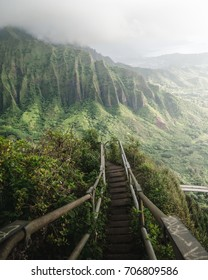 The Haiku Stairs, also known as Stairway to Heaven, is a steep hiking trail on the Island of Oahu in Hawaii.