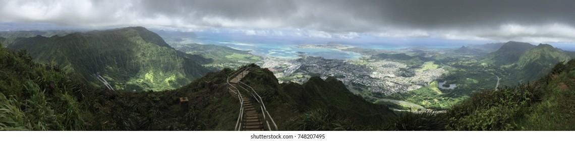 Haiku stairs on Oahu, Hawaii.