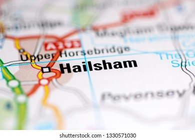 Hailsham. United Kingdom on a geography map