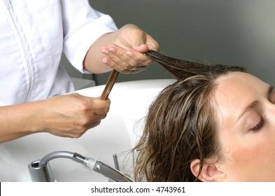 Hair beauty care, hair massage
