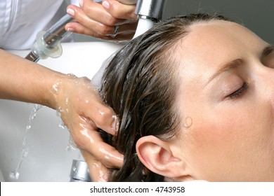 Hair beauty care, wash and cleaning with water
