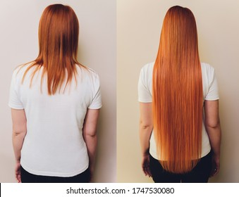 Hair. Before and After Advertising Portrait. Hairstyle. Haircare. Damaged Hair Treatment.