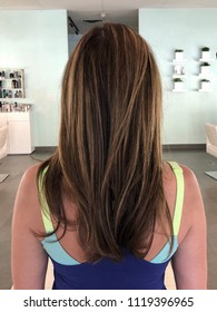 Hair blown out at a blow dry bar