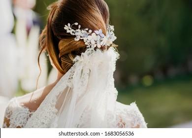 hair bride headdress beauty elegant