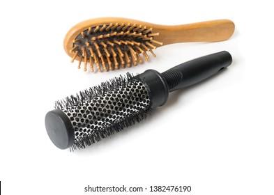 Hair brush isolated on white