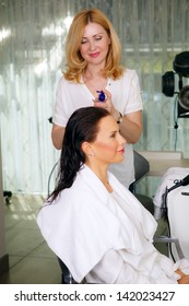 hair care in the beauty salon