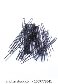 Hair Clips isolated on the white background.