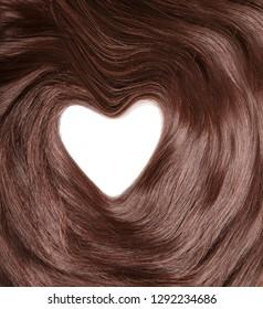 Hair close up. Texture of shiny healthy hair.