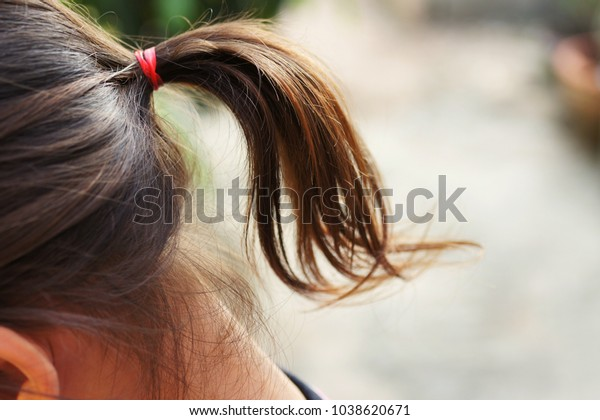 Hair Collection Children They Do Themselves Stock Photo
