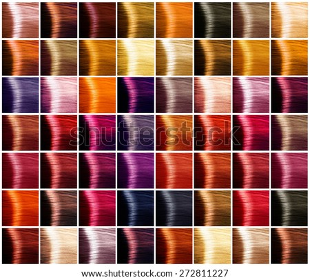 hair colors palette hair colours set の写真素材 今すぐ編集