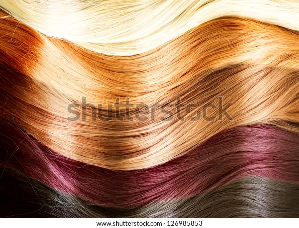 Photo De Stock De Palette Couleurs Des Cheveux Texture Des
