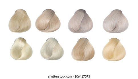 Hair Colors Set. Tints. Isolated on white.
