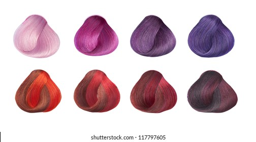 Hair Colors Set. Tints. Isolated on a white background