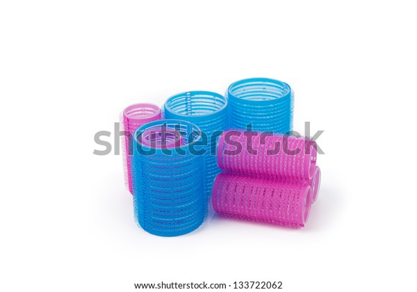 hair curlers on a white background