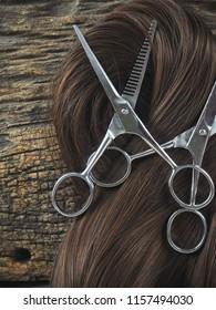 Hair cutting shears and hair