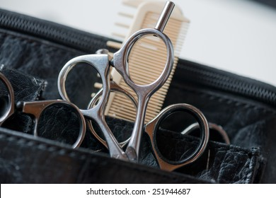 Hair cutting tools: Scissors and comb