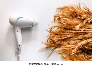 Hair dryer with damaged hair