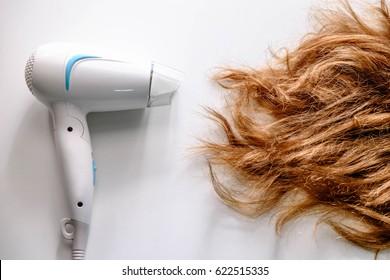 Hair dryer and damaged hair