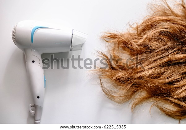Hair dryer and damaged hair