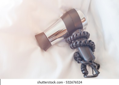 Hair dryer isolated on white background