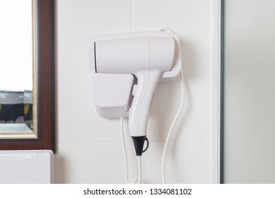 hair dryer on wall