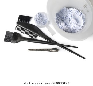 hair dye kit with white background