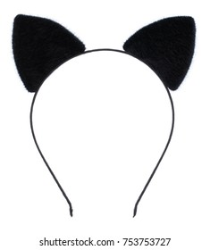 Hair hoop in shape of cat ears isolated on white background