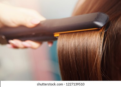Hair iron straightening beauty care salon spa.