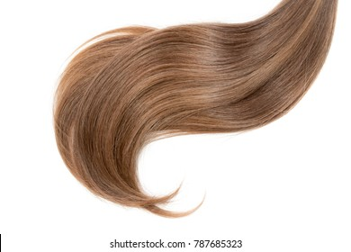 Hair isolated on white background